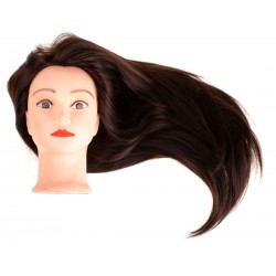 Głowa fryzjerska treningowa z naturalnymi włosami