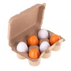Jajka do zabawy wyjmowane żółtka drewniane ..