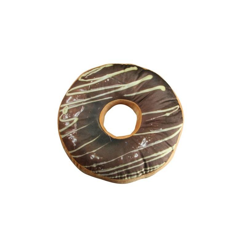 Poduszka dekoracyjna DONUT czekoladowy z lukrem ..