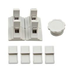 Zabezpieczenie magnetyczne białe 4szt + kluczyk