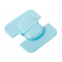 Zabezpieczenie narożne blokada do szafek lodówki niebieski