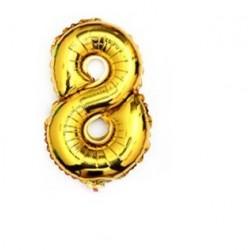 """Balon urodzinowy na hel cyfry """"8"""" 76cm złoty"""