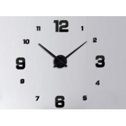 Zegar Ścienny czarny 4 duże cyfry ..