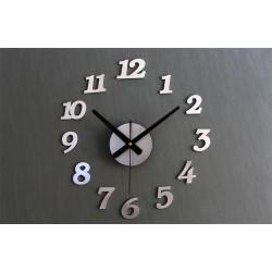 Zegar Ścienny srebrny 12 godzin ..