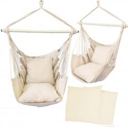 Hamak brazylijski krzesło z poduszkami ecru beżowy ..