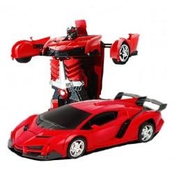 Samochód RC Autobot Transformacja 2w1 1:20 czerwon ..