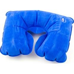 Poduszka podróżna turystyczna nadmuchiwana niebieska ..