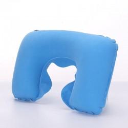 Poduszka podróżna turystyczna nadmuchiwana błękitna ..