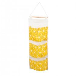Wiszący organizer worek na zabawki 58x20cm żółty ..